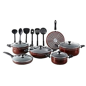 Salomon Q-Max 17 antiadherente ollas y sartenes de cocina utensilios de cocina con utensilios de cocina: Amazon.es: Hogar