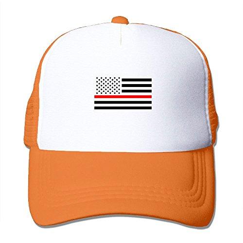 Thin Red Line American Flag Snapback Mesh Cap Hat Casual Baseball Trucker Cap