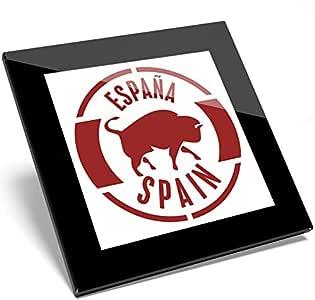 Compra Destination Vinyl 1 Posavasos de Vinilo con diseño de Espana roja y Toro de la Marca Cool Spain, Regalo para Estudiantes de Cocina #4894 en Amazon.es