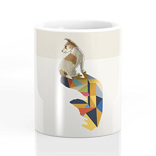 Russell Ceramic Mug (Society6 Walking Shadow, Jack Russell Mug 11)
