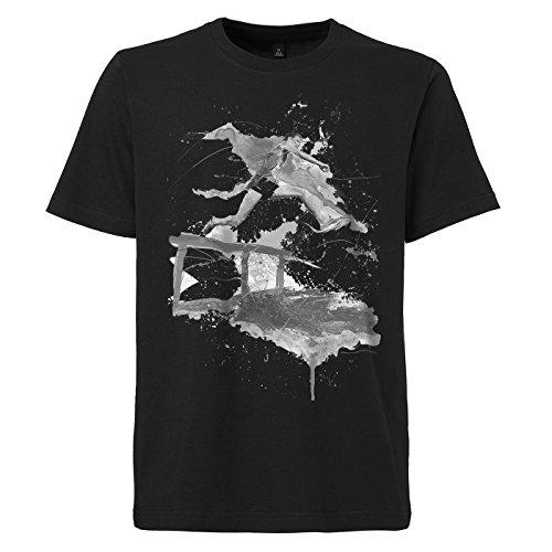 Hindernislauf schwarzes modernes Herren T-Shirt mit stylischen Aufdruck