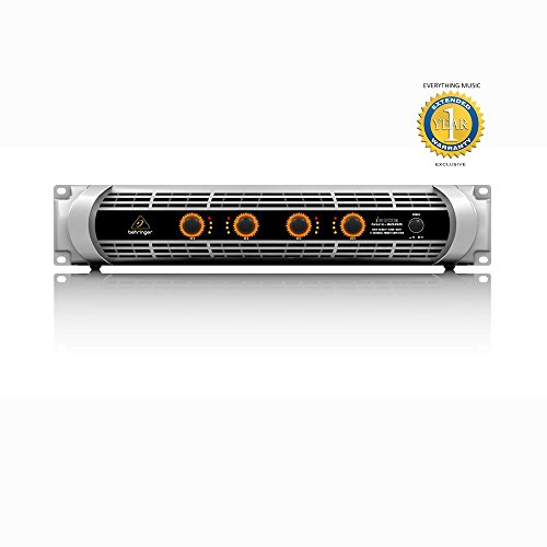 Behringer iNUKE NU4-6000 Ultra-Lightweight, High-Density, 6000-Watt 4-Channel Power Amplifier with 1 Year EverythingMusic Extended Warranty Free by Behringer