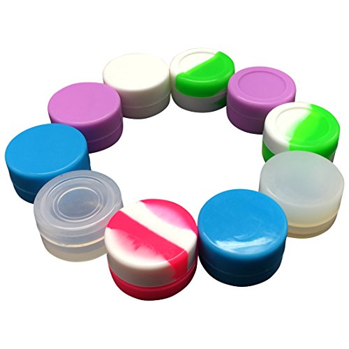Gentcy Silicone 5ml 100pcs Lots Silicone Container Silicone Jars For Concentrate Oil Wax