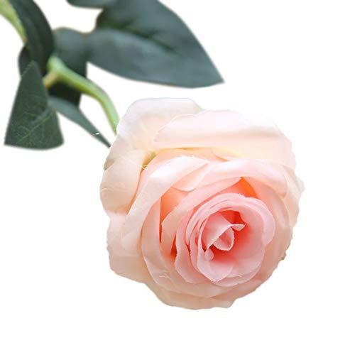 VOWUA Artificial Flowers Pretty Lifelike DIY Silk Flowers Beautifully Crafted Leaf Rose Floral Wedding Home Decor Hot ()