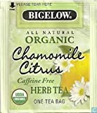 Bigelow All Natural Organic Chamomile Citrus Herb Tea, 60 Count For Sale