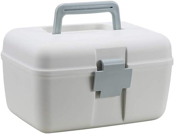 2 Niveles Caja de Primeros Botiqu/ín de Medicinas Multifuncion Caja de Almacenamiento con Asa 24.5 x 18.5 x 14.5cm Dittzz Caja de Medicina