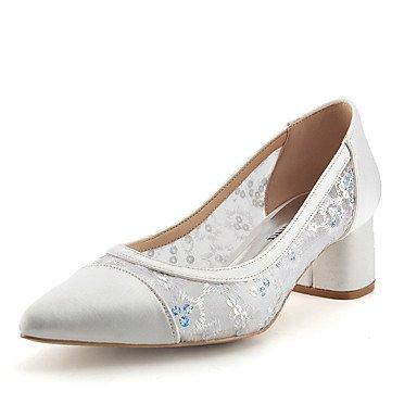 Satén Shoes Wedding UK4 CN36 Parte Transpirable Brillante Verano Básica amp;Amp; EU36 US6 Net Fallwedding Paillette Glitter Mujeres'S Glitter Malla Tul RTRY Las Encaje Bomba CtwqBCOg
