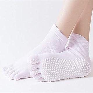 HATCHMATIC 1 Paire Orts Chaussettes Bonne flexibilité Chaussettes en Mesure de Yoga de Coton pour la Taille Dance Fitness ortswear Balle Accessoires pour 34-39: Rose