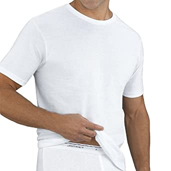c604dc97195a Jockey Classic Crew 5 Pack 100% Cotton White Undershirt Style #9835 (2XL)