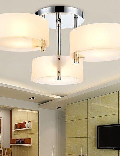 L & h-home iluminación IKEA estilo montaje empotrado moderno/contemporáneo 3 luces lámpara de techo dormitorio/salón/habitación de los niños/entrada/pasillo/Metal, 220 – 240 V: Amazon.es: Hogar