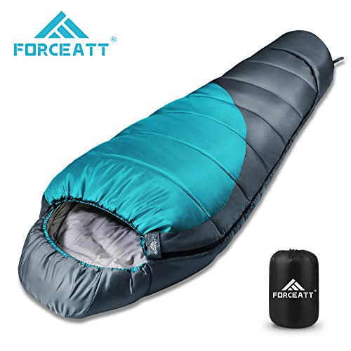 Forceatt Schlafsack, 3 bis 4 Jahreszeiten Deckenschlafsack Schlafsack für Camping, Reisen und Outdoor-Aktivitäten…