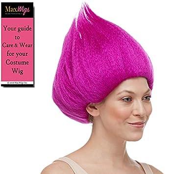 Amazon.com: Troll Deluxe Wig Color Magenta - Sepia Wigs ...