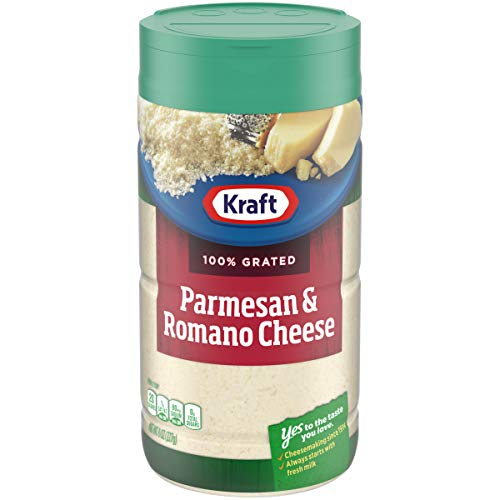 (Kraft 100% Grated Parmesan & Romano Cheese Shaker, 8 oz Bottle )