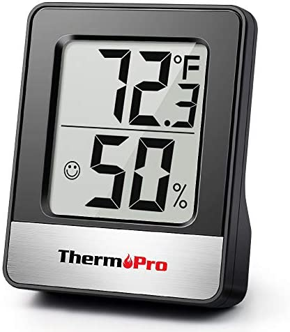 ThermoPro TP49 Digital Hygrometer Indoor Thermometer Humidity Meter Room ThermometerTemperature and Humidity Monitor Mini Hygrometer Thermometer