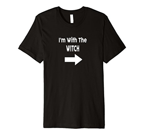 Best Halloween Costumes Ideas For Couples (Mens I'm With The Witch Halloween Couples Costume Shirt Premium T Large Black)