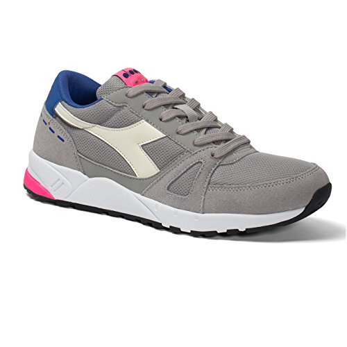 Diadora Unisex Adults' Run 90 Sneaker Low Neck C6491 GRIGIO/ROSA hzFRaOXs