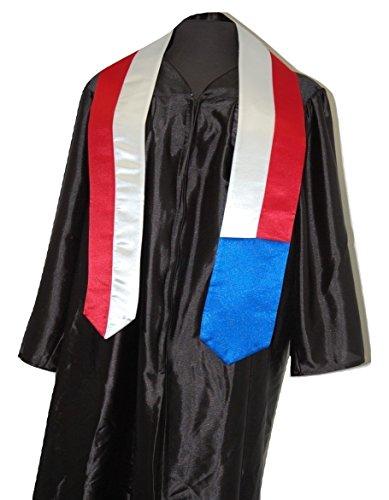 Czech Republic Flag Graduation Sash/Stole International Study Abroad Adult