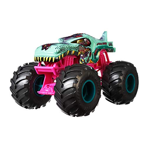 Hot Wheels Monster Trucks Zombie Wrex die-cast 1:24 Scale Vehicle with Giant Wheels for Kids Age 3 to 8 Years Old Great…