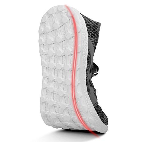 Voetenmat Dames Sneakers Ultra Lichtgewicht Ademend Mesh Atletische Hardloopschoenen Plus Maat Gery / Wit
