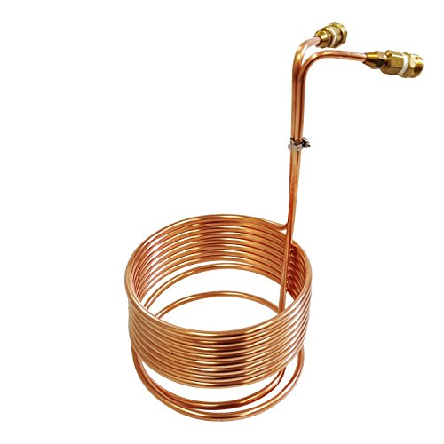 NY Brew Supply Wort Chiller with Garden Hose Fittings, 3/8