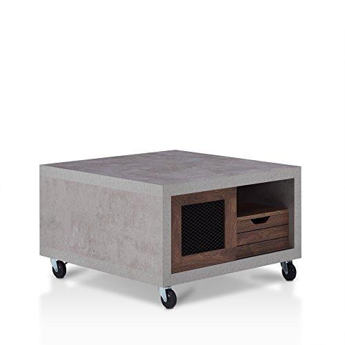HOMES: Inside + Out FGI-1794C21 Aaliyah Coffee Table, Walnut