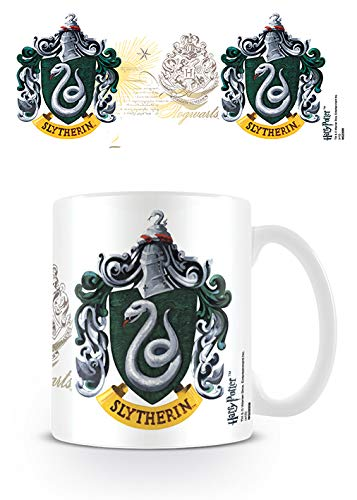 Harry Potter Pyramid International - Taza de cerámica, diseño con el escudo de Slytherin
