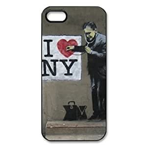 Banksy Art Abstract I love New York Case For Samsung Note 2 Cover Case Back Case For Samsung Note 2 Cover