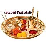 Royallifestylee Brass Puja Thali Set
