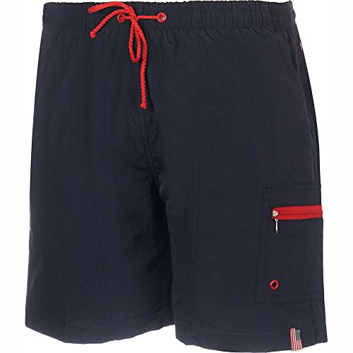 Hook & Tackle Men's Shorecrest Fishing Water Short Swim Trunk Navy XLarge (Fishing Swim Trunks)
