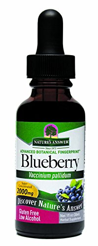 Nature's Answer Blueberry Leaf with Organic Alcohol, 1-Fluid Ounce Blueberry Leaf Organic Alcohol