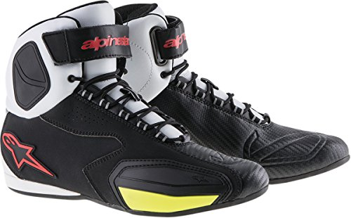 Alpinestars Faster Men's Street Motorcycle Shoes - Black/White/Red/Yellow / 13 by Alpinestars