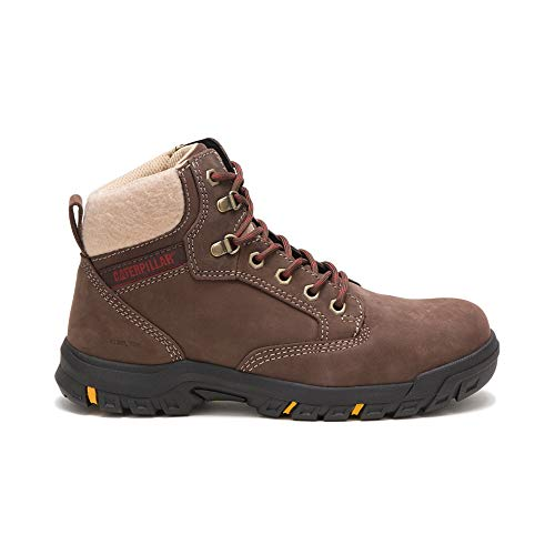 Caterpillar Tess Steel Toe Work Boot Women 6 Chocolate