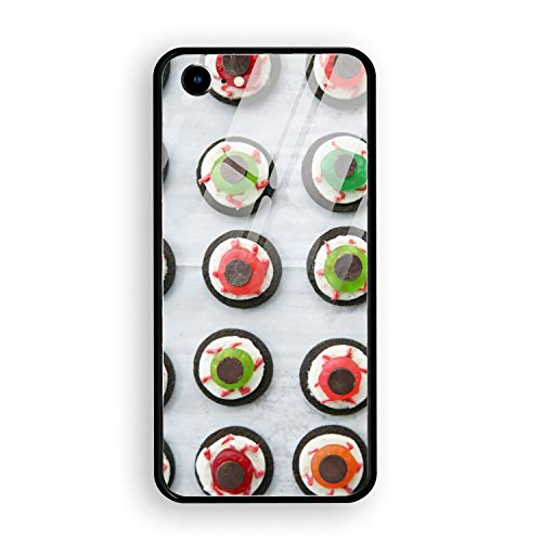 Halloween Eyeball Dessert Printed iPhone 7/8 Cover Full Body Protect Tempered Glass for iPhone 7/8 Case 4.7