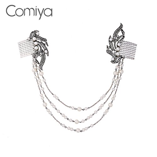 usongs Mia retro accessories can be personalized jewelry alloy diamond long section Ms handmade headdress hair accessories