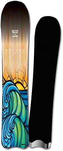 19-20 ELAN エラン NorthShoreWave ノースシェアウェーブ パウダー ヘザーブラウン メンズ レディース スノーボード 板 2020