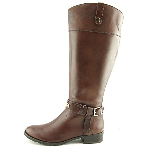 INC International Concepts Frauen Fabbaa Runder Zeh Leder Fashion Stiefel Cappuccino