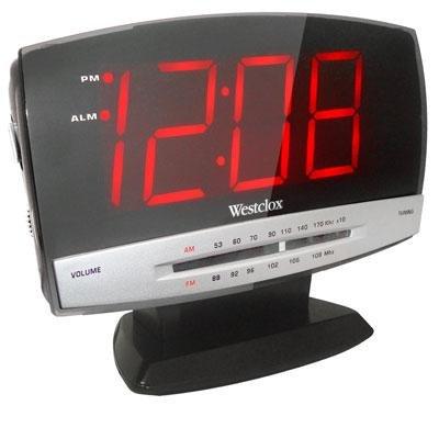 "CLOCK RADIO ALRM 1.8""LED by WESTCLOX MfrPartNo 80187A"