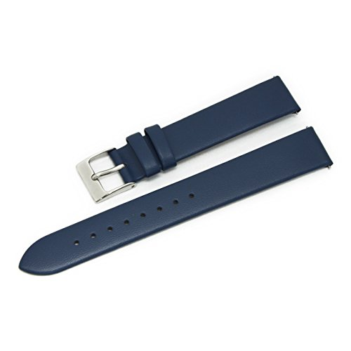 CASSIS Loire Genuine Calf Leather Watch Strap with Quick RELASE 15mm Dark Blue with Tool X1026H19062015 (15mm Nylon Watch Band)