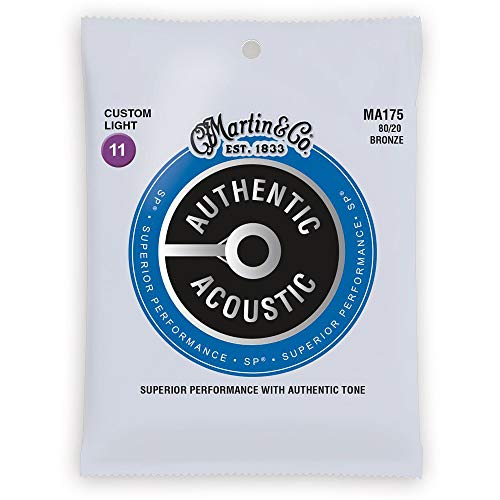 Other AAuthentic MA175 Authentic SP 80/20 Bronze Extra Custom Light Gauge Acoustic Guitar Strings (41Y18MA175)