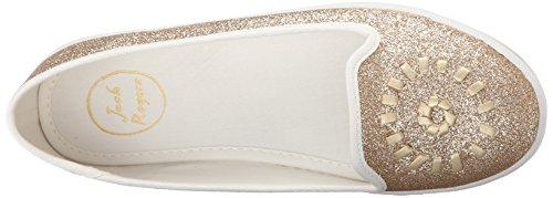 Jack Gold Rogers Gold Women's M Fashion Glitter Mila 10 US Sneaker qYqxar
