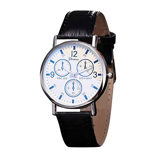 Bokeley Men' Watch Fashion/Casual/Business/Luxury Mineral Quartz Dial Leather/Brass and Silver Toned Case (B)