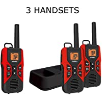 Uniden GMR3055-3VP Black Edition GMRS/FRS Two-Way Radio With Extra Long Battery Life, Call Button, and Battery Strength Meter – BLACK & RED