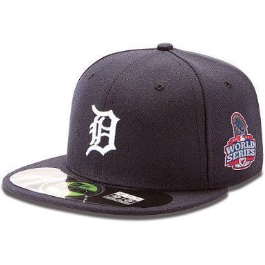 Detroit Tigers Authentic Home Performance 59FIFTY On-Field Cap w/2012 World Series Patch-7 3/8