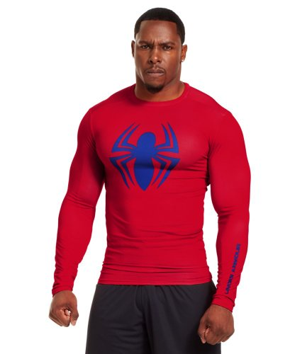 Under Armour Men's Alter Ego Compression Long Sleeve Shirt Large Red
