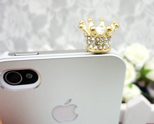 OrangeTag Dust Plug-earphone Jack Accessories Crystal Queen Crown / Cell Charms / Dust - Cell Charms Phone Crown