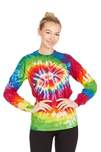 (DARESAY Tie Dye Style Long Sleeve T-Shirt, Moondance,)