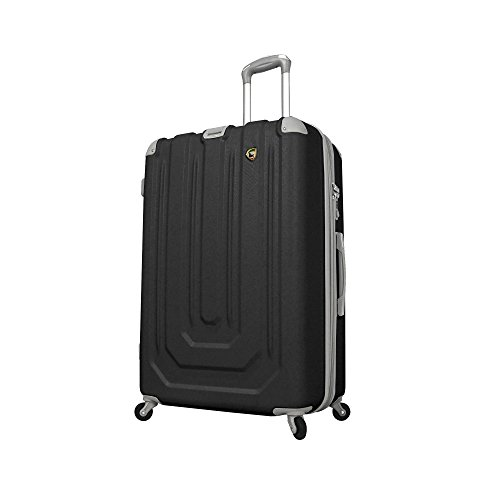 Mia Toro Luggage Pastello Composite Hardside Spinner Black