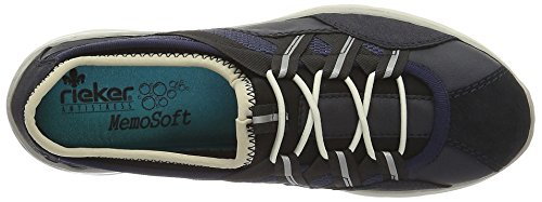 Blau Navy Pazifik Schwarz Pazifik Marine Sneakers Damen Rieker 14 L3251 7Bw8Fttq