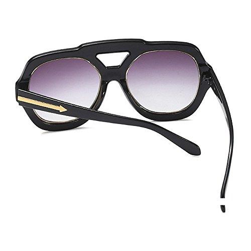de Verano la Playa de Color de Gran Negro de Conducción Vacaciones Nariz Tamaño Protector con Sol para Gafas Tamaño de UV para en Mujeres la Puente Gran Marrón Especial de de HpwHxqX