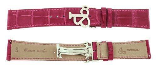 Jacob & Co. Genuine Real Alligator Pink Short Band Strap 22SMM For 47MM Watch (Pink Genuine Alligator Strap)